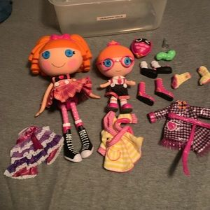 Lalaloosy  lot of 2 dolls and clothes